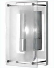 Lite Source Wall Sconce Chrome with Clear Glass LS-1385C-CLR