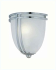Lite Source Wall Sconce Chrome with Frost Glass Shade LS-16097C-FRO