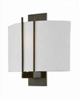 Lite Source Wall Sconce Dark Bronze with Fabric Shade LS-16970