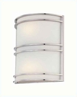 Lite Source Wall Sconce PS Frost with Glass Fluor. Bulb LS-16021PS-FRO