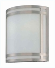Lite Source Wall Sconce PS with Frost Glass Shade Malika LS-16993