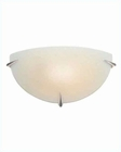 Lite Source Wall Sconce PS with Frost Glass Shade Nick LS-1338PS-FRO