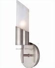 Lite Source Wall Sconce PS with Semi Frost Glass Shade LS-16231PS-FRO