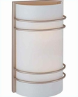 Lite Source Wall Sconce SS with Frost Glass Shade LS-16222SS-FRO
