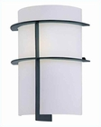 Lite Source Wall Sconce with Black Frost Glass Shade LS-16992