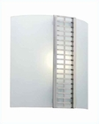 Lite Source Wall Sconce w/ Glass and Grid Accent PS LS-1197PS-FRO