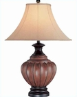 Lite-Source-Walnut Finish Domenica table lamp LS-C4973