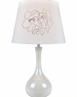 Lite Source White Ceramic Body w/ Siani Table Lamp LS-22113WHT