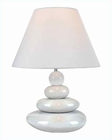 Lite Source White Ceramic Body w/ Tiya Table Lamp LS-22112WHT