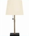 Lite Source with Black Copper Flute Table Lamp LS-3385CP-BLK