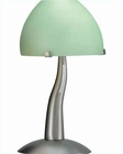 Lite Source with Glass Shade Accent Elfin Table Lamp LS-3514SS-GRN