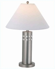 Lite Source w/ Night Lite SS White Primal Table Lamp LS-3240SS-WHT