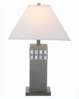 Lite Source w/ Night Lite SS White Table Lamp LS-3236SS-WHT