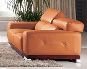 Living Room Loveseat in Italian Leather 33SS383