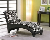 Lounge Chaise in Zebra Fabric by Acme Furniture AC96139