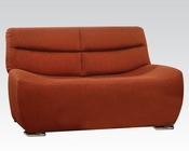 Loveseat in Orange Linen by Acme Furniture AC51711