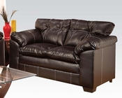 Loveseat in Premier Chocolate Hayley by Acme Furniture AC50356