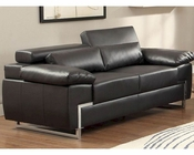 Loveseat Kira by Homelegance EL-9647BLK-2