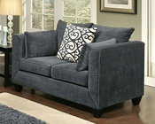 Loveseat Monaco Contemporary Style in Eclipse Finish BH-47SS193