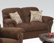 Loveseat Patricia Dark Brown by Acme AC50131