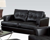 Loveseat Platinum Black by Acme Furniture AC15091B