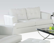 Loveseat Platinum White by Acme Furniture AC15096B