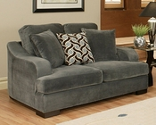 Loveseat Rocky Contemporary Style in Charcoal Finish BH-47SS223