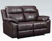 Loveseat w/ Motion Dyson Burgundy by Acme Furniture AC50856