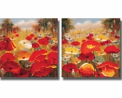 Lucas Santini Meadow Poppies 2pc Set