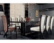 Luxury Dining Set w/ Ebony Veneer and Crocodile Table 44D832-240-SET