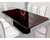 Luxury Ebony Veneer and Black Crocodile Dining Table 44D832-240