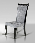 Luxury Silver Velvet Side Chair 44DC014 (Set of 2)