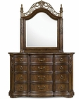 Magnussen Drawer Dresser and Shaped Mirror Villa Corina MG-B1604-20-45