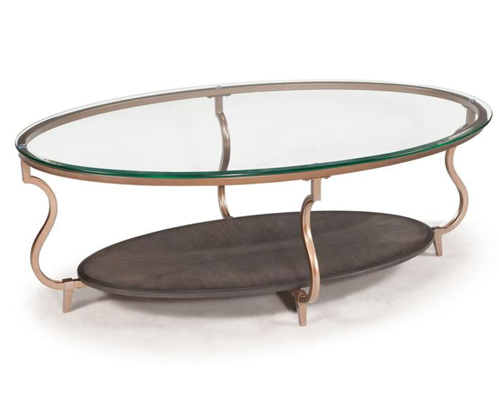 Magnussen oval cocktail table rachel mg t2533 47 for Cocktail table 47
