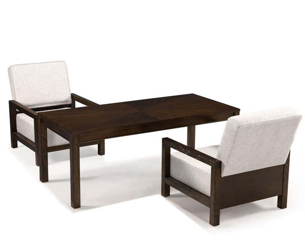 Magnussen rectangular cocktail table and 2 chairs cavelle for Cocktail tables and chairs