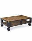 Magnussen Rectangular Cocktail Table w/ 2 Braking Casters MG-T1755-43