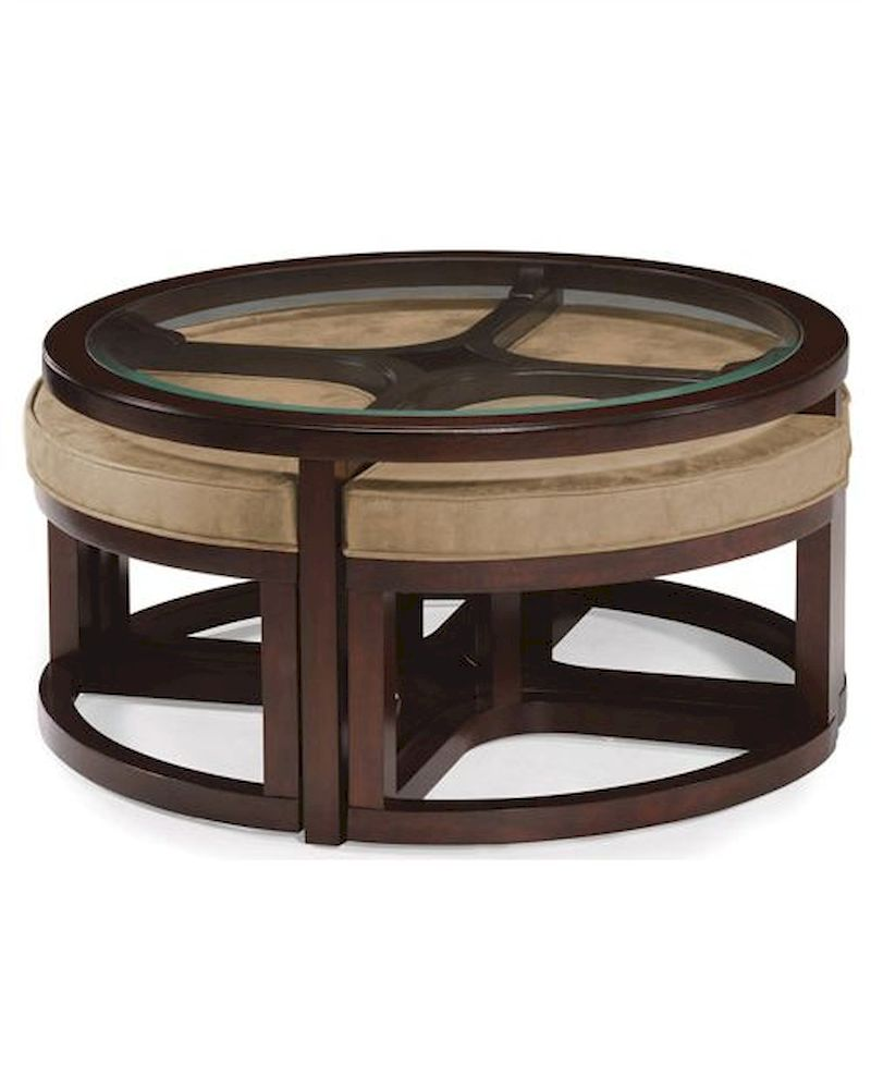 Magnussen Round Cocktail Table W 4 Stools Juniper Mg T1020 45