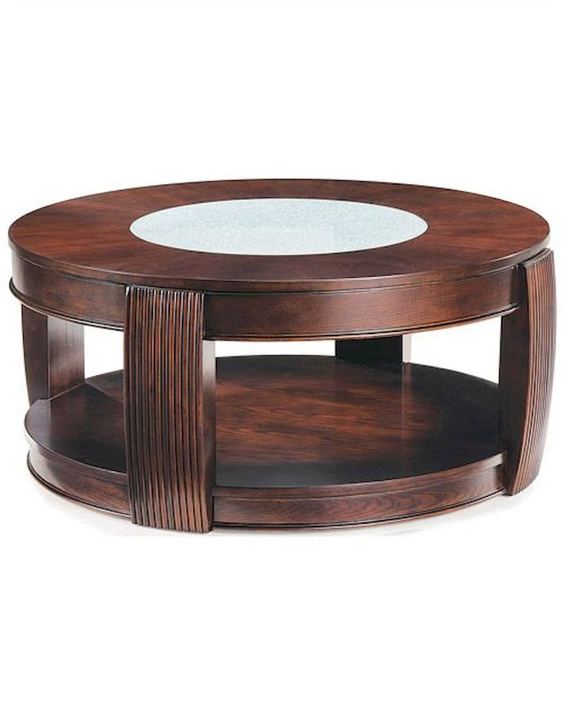 Magnussen Home Cranfill Round Cocktail Table: Magnussen Round Cocktail Table W/ Casters Ino MG-T1738-45