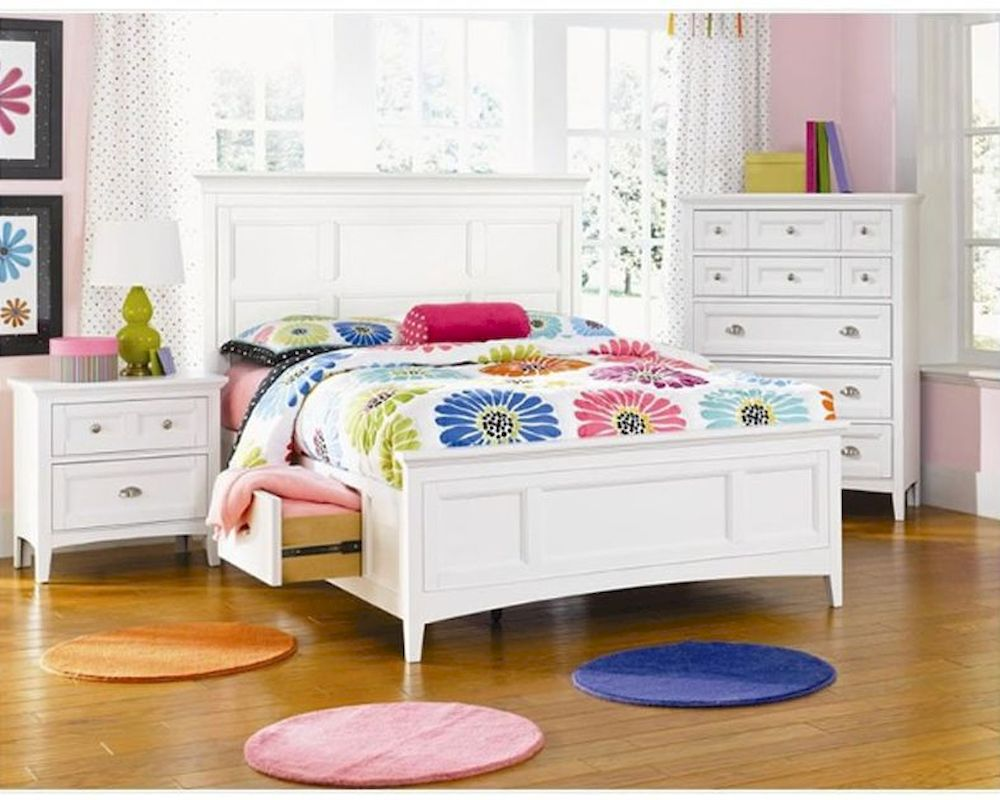 Magnussen youth bedroom set with 2 storage rail kenley mg - Youth bedroom furniture with storage ...