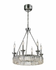 ELK Manning 6+Led Light Chandelier in Polished Chrome EK-11805-12-6