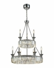 ELK Manning 9+Led Light Chandelier in Polished Chrome EK-11806-20-6-3