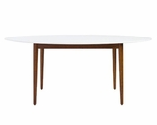 Manon Oval Dining Table by Euro Style EU-90190WHT