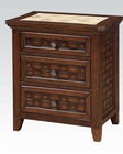 Marble Top Nightstand Carmela by Acme Furniture AC24783