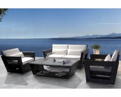 Maria Dark Finish Outdoor Patio 5pc Sofa Set 44PH07D