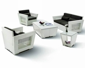 Maria White Finish Outdoor Patio 5pc Sofa Set 44PH07W