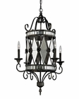 ELK Mariana Collection 4 Light Chandelier in Blackened Silver EK-19103-4