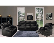 Marthena Furnishing Black Finish Sofa Set MF-2016