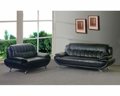 Marthena Furnishing Sofa Set in Black MF-T819
