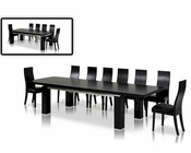 Maxi Black Oak Dining Set in Modern Style 44DMAXI-SET