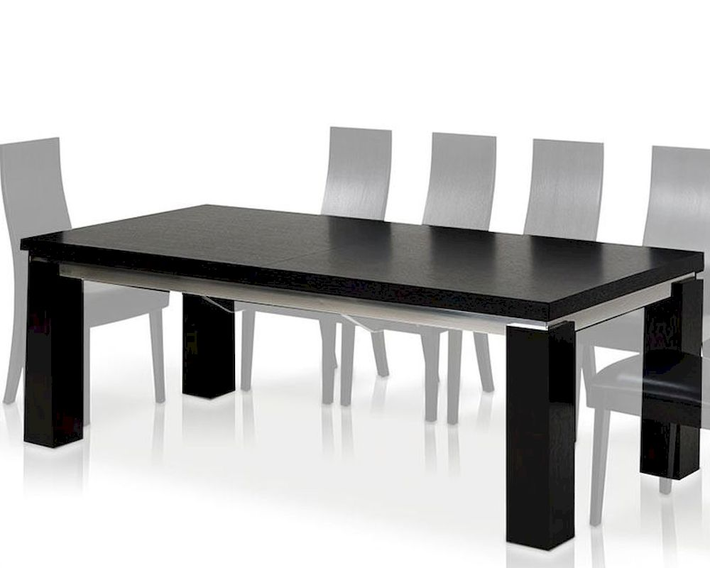 Maxi modern black oak dining table 44dmaxi set for Modern black dining table